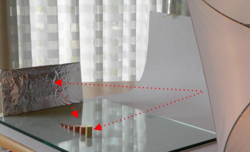 So könnte ein Aufbau mit Reflektor aussehen.