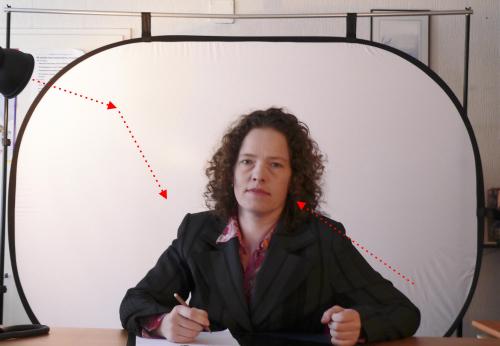 Falthintergründe könnten Sie für Porträts und Teilkörperaufnahmen sehr gut verwenden und entweder mit einem Hintergrundgestellt aufhängen oder hinstellen.