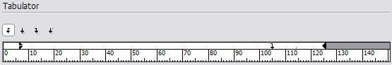 Tabulator für das Inhaltsverzeichnis