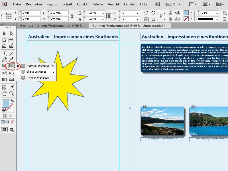 InDesign Rahmen – InDesign Rechteckrahmen | InDesign-Tutorials.de