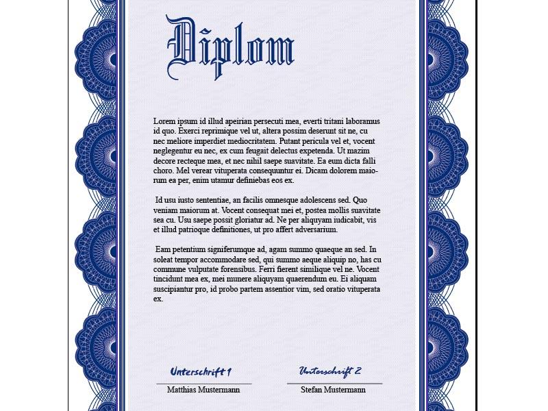 Urkunde Diplom Gestalten Als Vorlage Indesign Tutorialsde