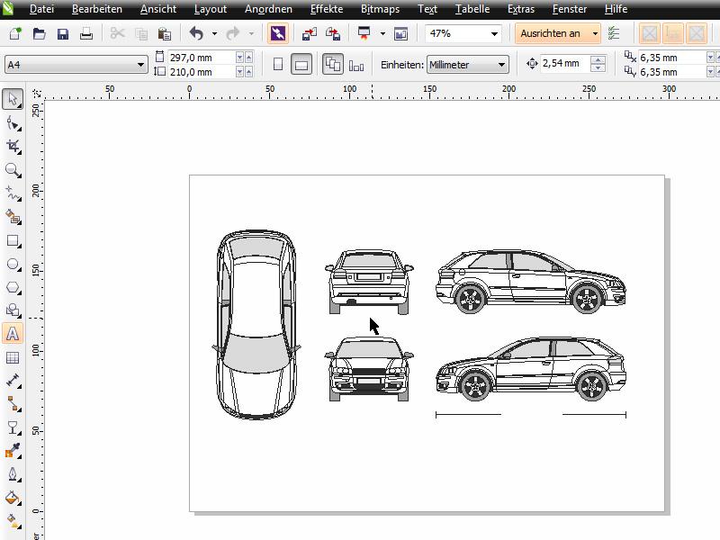CorelDRAW X6 Praxis - Fahrzeugdesign | Corel-Tutorials.de