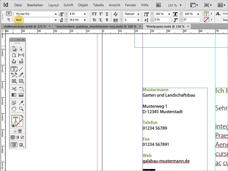 Tutorial Briefpapier klassisch/modern und verspielt in Adobe ...