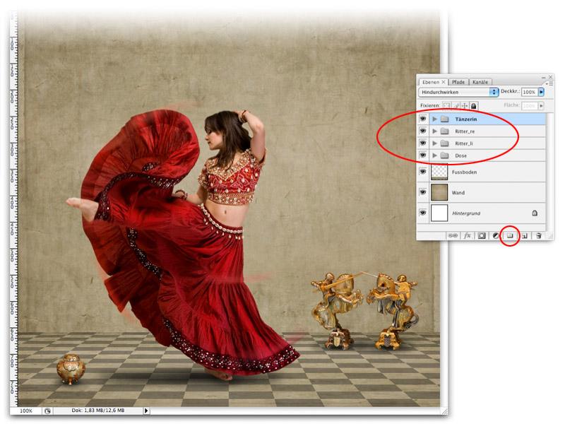 making of red dance dynamik des bildes durch farbakzente verst rken. Black Bedroom Furniture Sets. Home Design Ideas