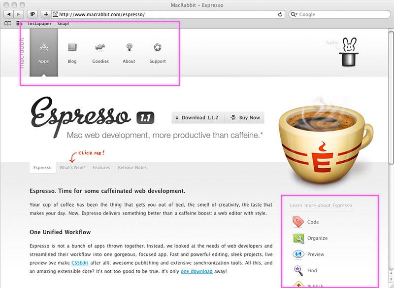 Screenshot MacRabbit.com