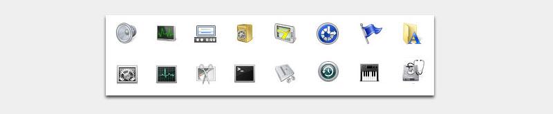 Ansicht Systemicons Windows und OS X