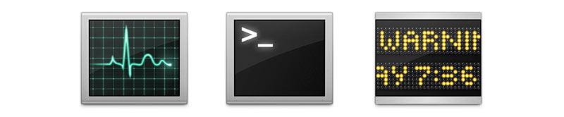 OS X Icons mit ähnlicher Optik