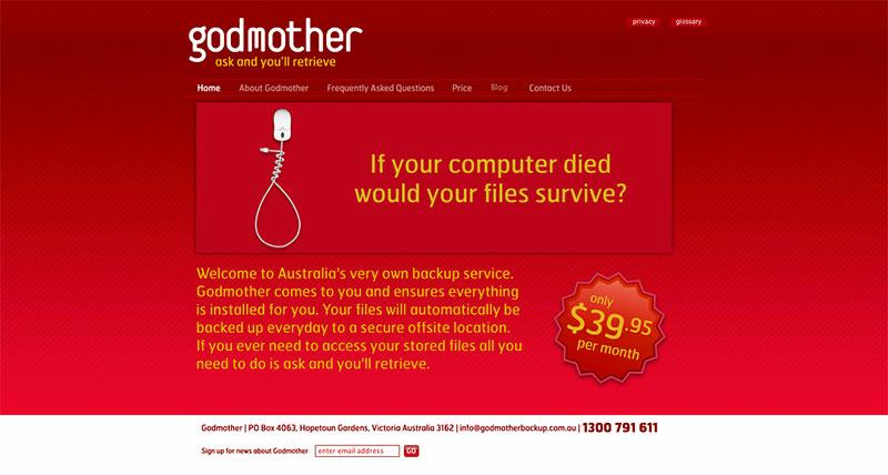 Beispiel für eine rote Website