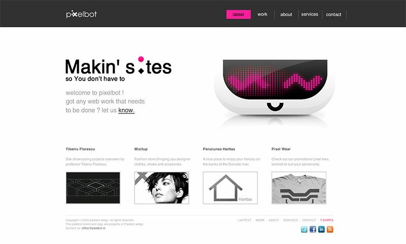 Beispielwebsite in Weiß