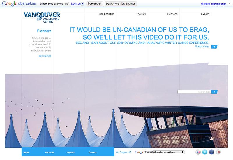 Beispielwebsite Harmonie der Nachbarfarbe