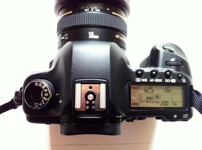Kamera im manuellen Modus verwenden