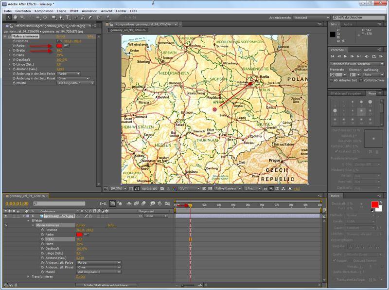 Tutorial Animierte Reiseroute mit Kilometerzähler erstellen - PSD ...