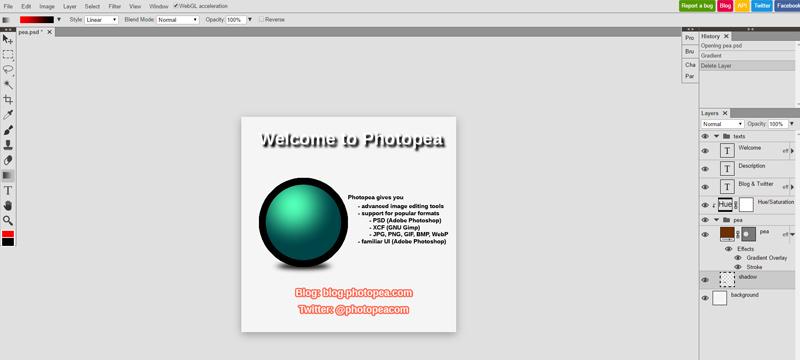 Photopea: PSD-Dateien im Browser bearbeiten
