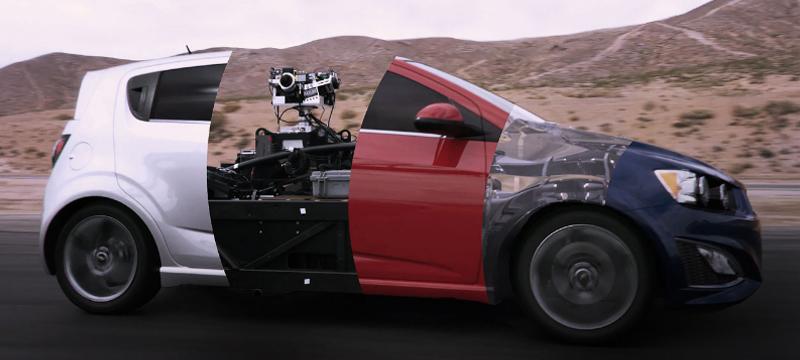 Ein Auto wird transformiert – in alle anderen Autos