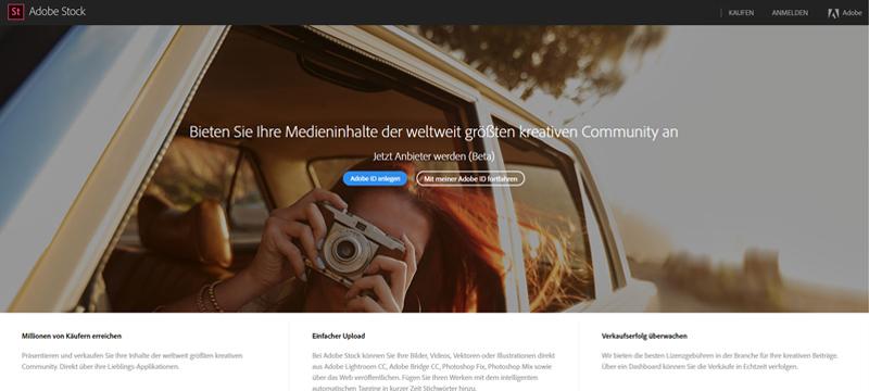 Das Adobe Stock Contributor Portal