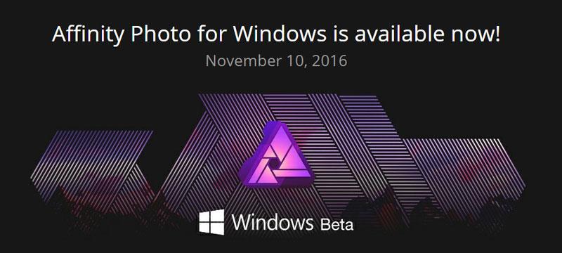 Affinity Photo für Windows: Public Beta verfügbar