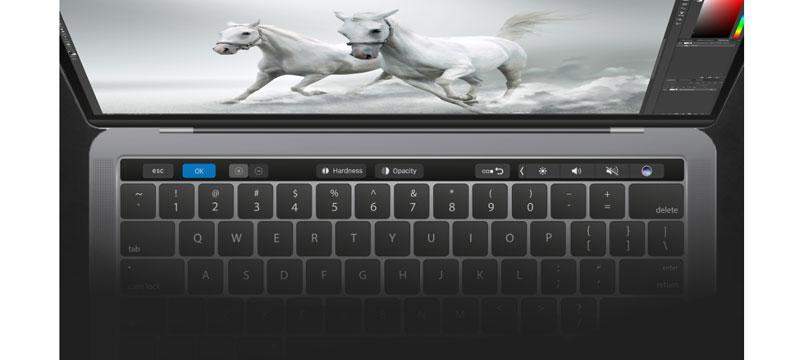 Adobe Photoshop CC 2017 unterstützt die Apple-Touch-Bar auf dem neuen MacBook Pro