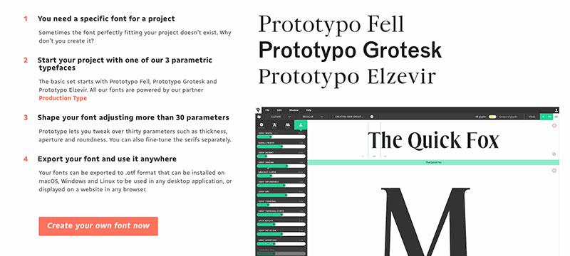 Einfach eigene Schriften kreieren mit Prototypo