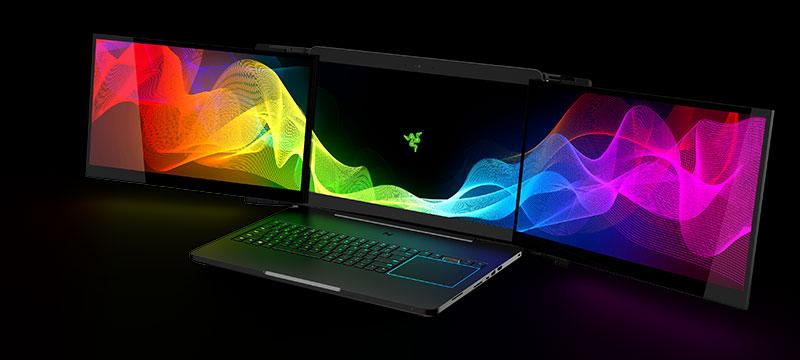 Valerie: Laptop mit integriertem Dreifach-Display