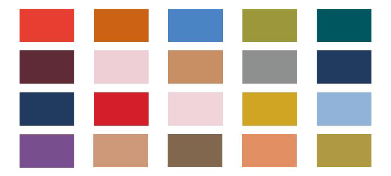 Pantone blickt voraus in den Herbst – 20 Farben im ASE-Format