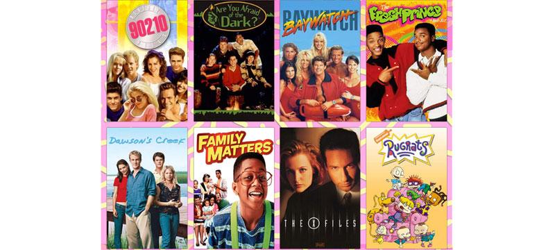 Schriftarten von TV-Serien aus den 90ern