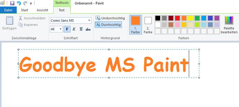 Keine Weiterentwicklung von MS Paint – UPDATE