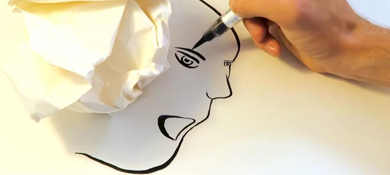 Schatten und wild gesetzte Linien als Ausgangspunkt für Zeichnungen