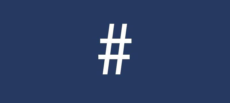 Das Hashtag feiert Zehnjähriges