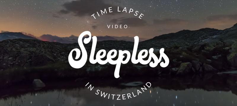 Die Sterne über dem Horizont der Schweizer Alpen