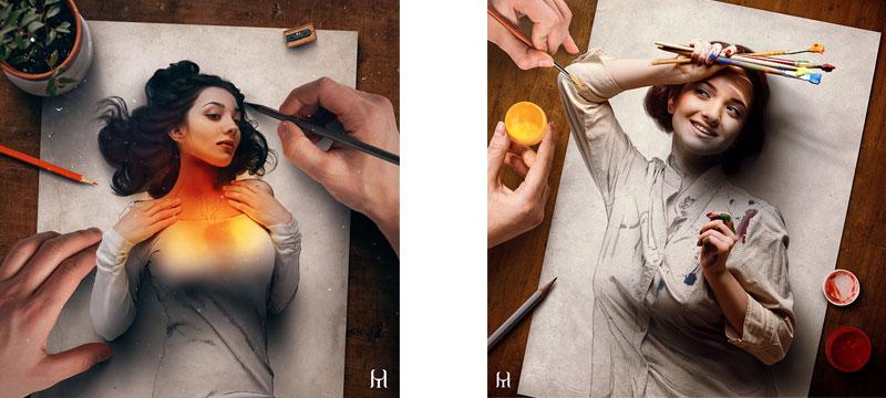 Vom Foto zur Zeichnung und wieder zurück – die Werke von Tullius Heuer