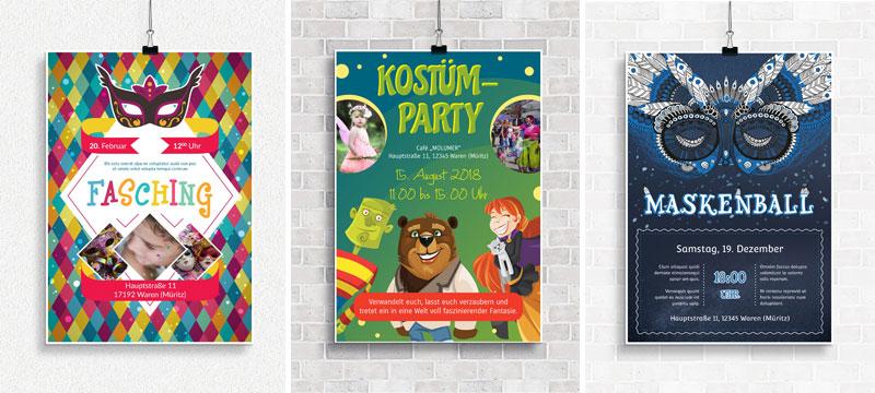Design-Vorlagen für Fasching & Karneval