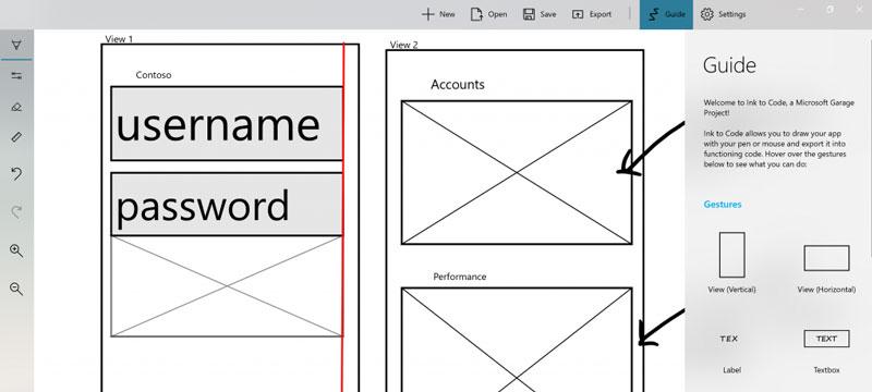 Ink to Code von Microsoft verkürzt den Weg von der Skizze zum App-Prototyp