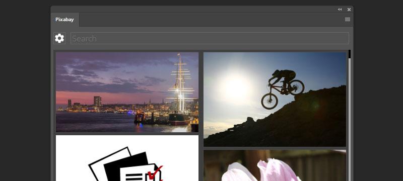 Pixabay-Erweiterung zur Bildersuche in Photoshop CC