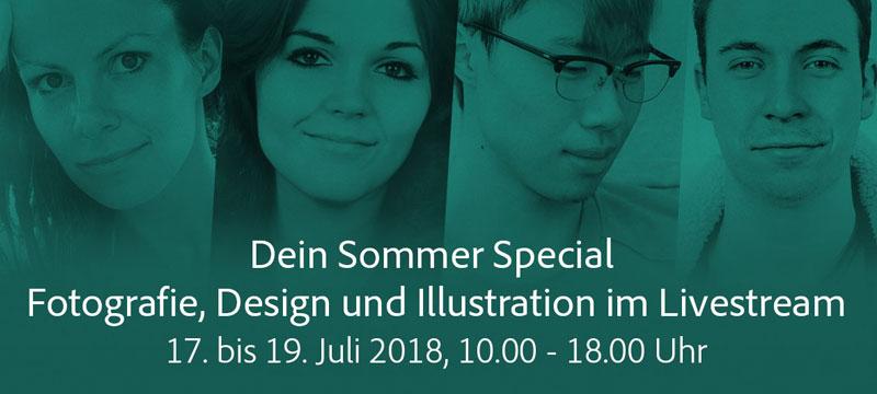 Adobe Live (17.–19.7.): Design, Illustration, Fotografie