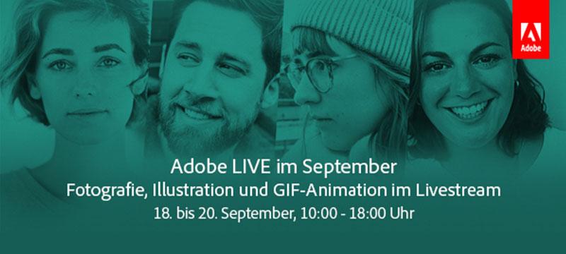 Adobe Live: Fotografie, Illustration und GIF-Animation im Livestream – noch bis 20.9.