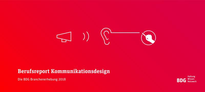 Umfrage unter Kommunikationsdesignern zum BDG Berufsreport