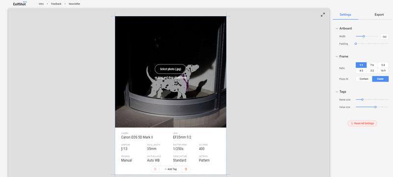 ExifShot stellt Metadaten und Fotos anschaulich zusammen