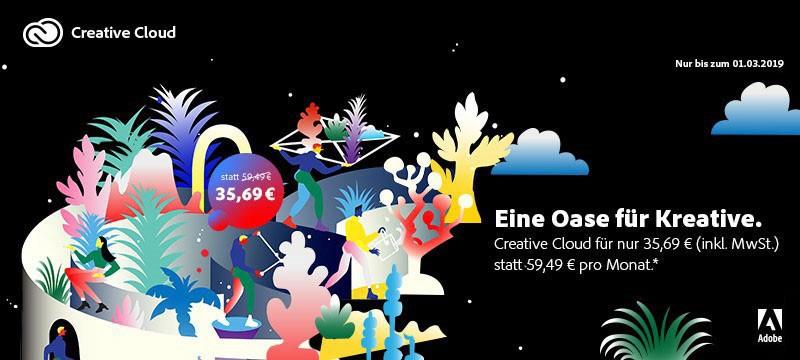 Adobe Creative Cloud zum Sonderpreis