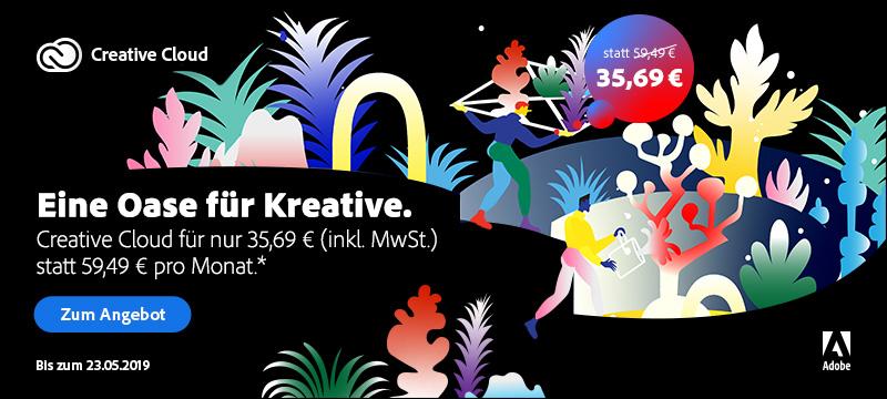 Eine Oase für Kreative: Creative Cloud zum Sonderpreis