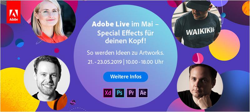 Adobe Live: Special Effects für eure Köpfe!