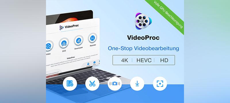 VideoProc: Videos schnell bearbeiten und umwandeln