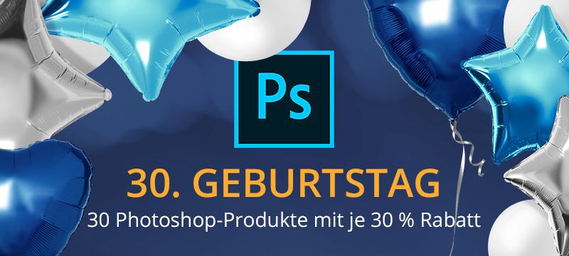 30 % Rabatt auf 30 Photoshop-Produkte