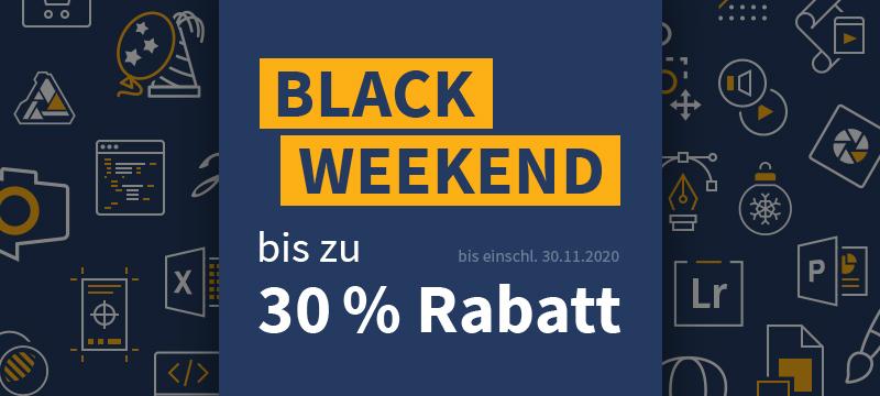Black Weekend: Rabatte im Shop und bei TutKit.com
