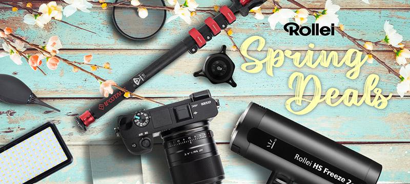 Jetzt bis zu 61% sparen bei über 50 Fotoprodukten im Rollei Spring Sale