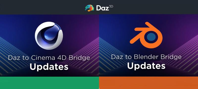 Daz to Blender Bridge und Daz to Cinema 4D Bridge