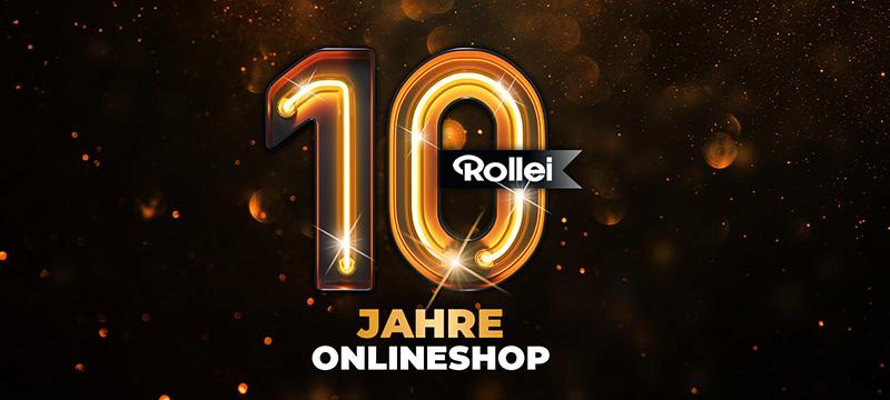 10 Jahre Rollei Onlineshop: Jetzt bis zu 75 % Rabatt sichern