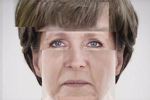 Berühmte Gesichter aus Stockbildern zusammengesetzt