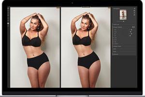 PortraitPro Body: Slider für die Körper-Retusche