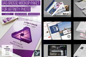 Das große Affinity Photo Mockup Paket