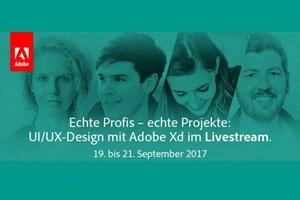 Vom 19. bis 21.9.: Live Sessions zum UX-Design mit Adobe Xd